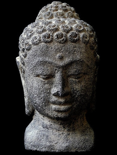Volcanic Rock Buddha Head from Bali