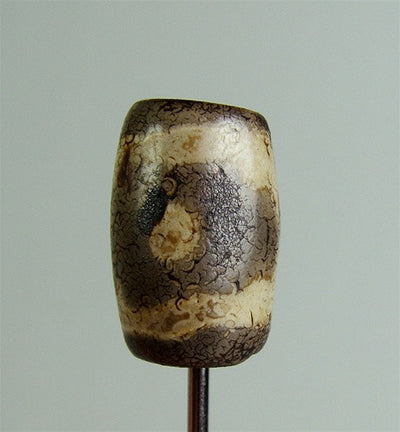 Ancient Barrel Shaped dZi Bead