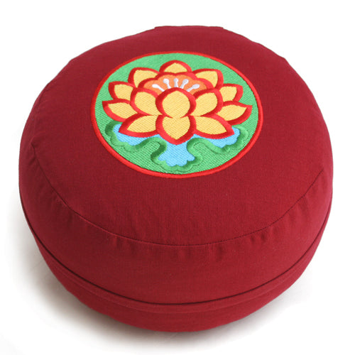 Lotus Flower Meditation Zafu - Buckwheat Filling