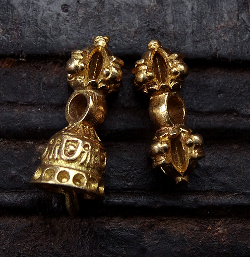 Brass Bell & Vajra Bead Set