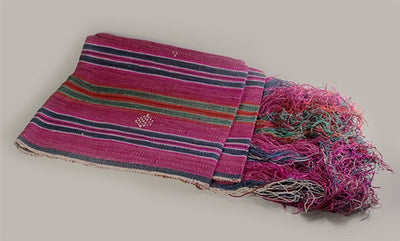 TRADITIONAL RAW SILK BHUTANESE BELT - Multicoloured