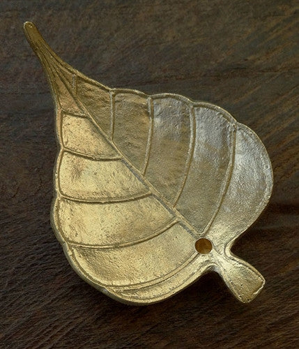 Brass Bodhi Leaf Design Incense Burner