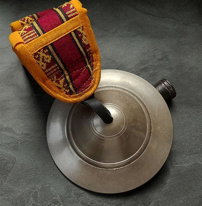 Bronze Alloy Bnpo Shang Bell with Handle and Case