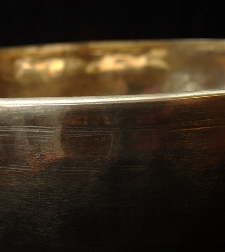 Fine Golden Bronze Alloy Jambati Himalayan Singing Bowl - 10.75 inches
