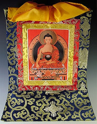 Embroidered Buddha Shakyamuni Thangka