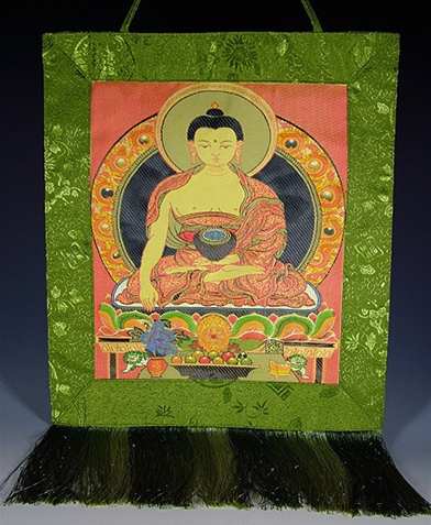 Silk Embroidered Buddha Wall Hanging
