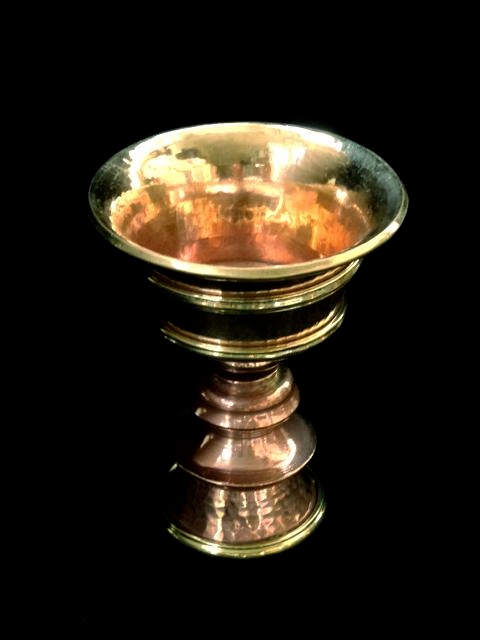 Hand Beaten Copper Butterlamp - 5 inches