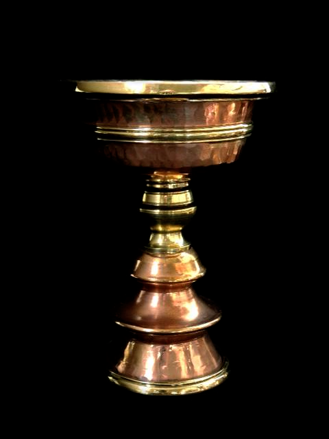 Hand Beaten Copper Butterlamp - 5.75 inches