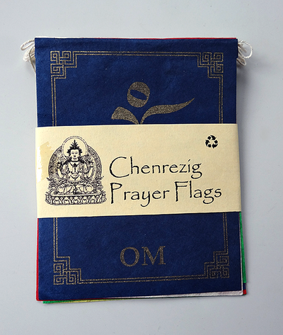 Indoor Prayer Flags - Paper - Chenrezig