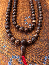 Natural Coconut Shell Mala  - 8.5mm