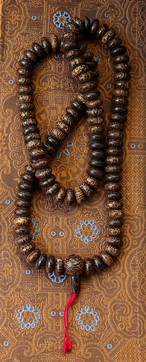 Natural Coconut Shell Mala  - 15mm