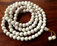 Natural Polished Conch Shell Mala - 10.5 mm