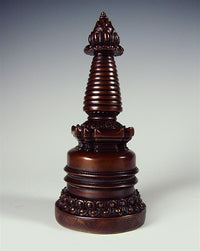 Dark Copper Stupa - 5 inches