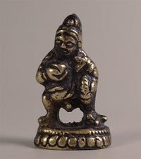 SMALLEST STANDING BLACK DZAMBHALA STATUE - Brass