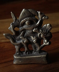 Small White Dzambhala Statue - Bronze