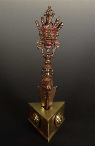 Hand Carved Copper Ritual Phurba