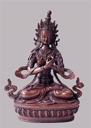 Copper Dorje Chang or Vajradhara Statue - 8.75 inches