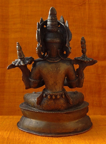Antique Statue of Vajradhara or Dorje Chang - 19th C