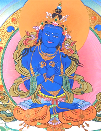 Fine Quality Dorje Chang or Vajradhara Thangka