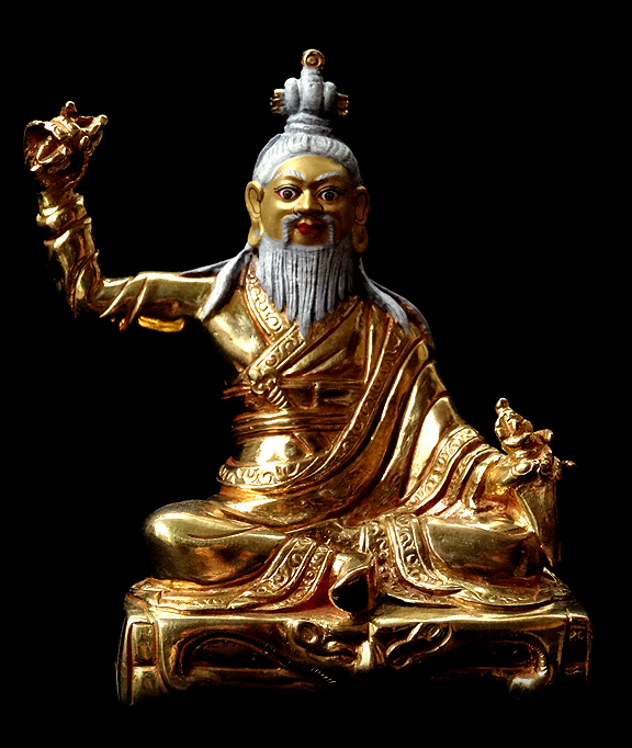 Fine Dudjom Lingpa Statue - Fully Gilded
