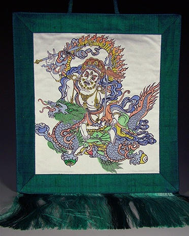 Silk Hand Painted Dzambhala Wall Hanging