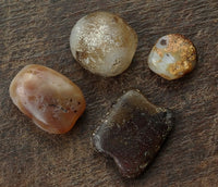 4 x Ancient Agate Stone Beads