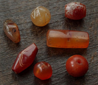 7 x Antique to Ancient Carnelian Stone Beads