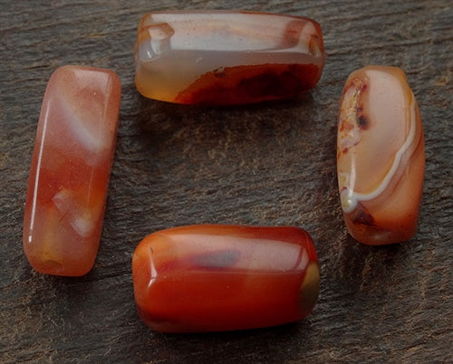 4 x Antique Faceted Indian Carnelians