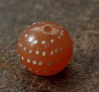 Ancient Decorated Carnelian with Spots - 12 mm