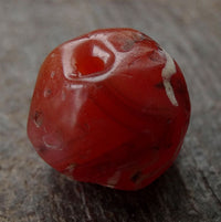 Ancient Decorated Carnelian Bead - 13 mm