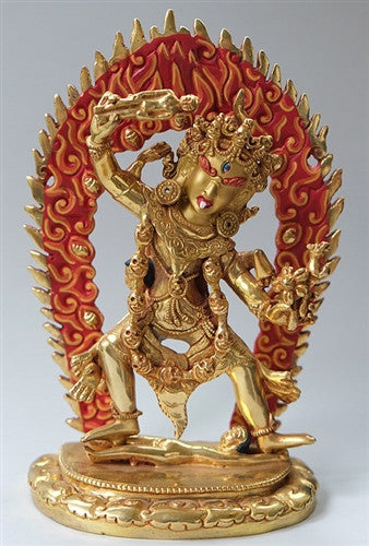 Ekajati Statue - Fully Gilded - 8 inches