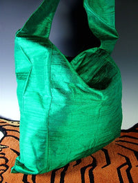 Fine Silk Sangha Bag - Emerald