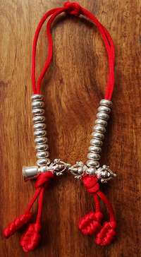 Extra Large Silver Plated Bell and Vajra Mala Counters