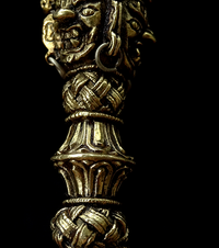 Fine Brass Phurba from Nepal - 6.75 inches