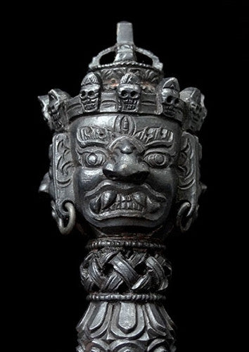 Exquisite Quality Vajrakilaya Iron Phurba - 8 inches