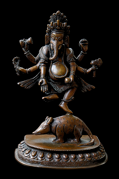 Six Armed Ganesha or Ganapati Statue