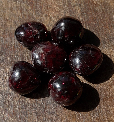 Group of 6 Antique Garnet Gemstone Beads