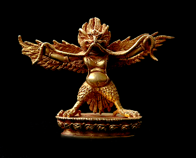 Garuda or Khyung Statue - Gilt Copper