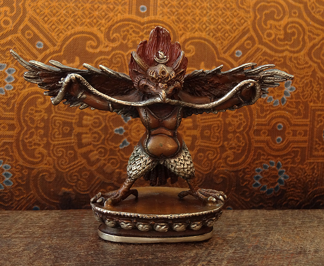 Garuda or Khyung Statue - Silver & copper