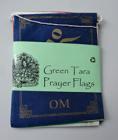 Indoor Prayer Flags - Paper - Green Tara