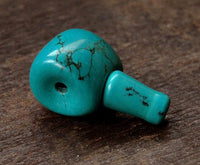 Genuine Turquoise Guru Bead - Barrel shaped - 15mm