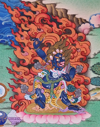 Guru Rinpoche and Eight Manifestations Thangka
