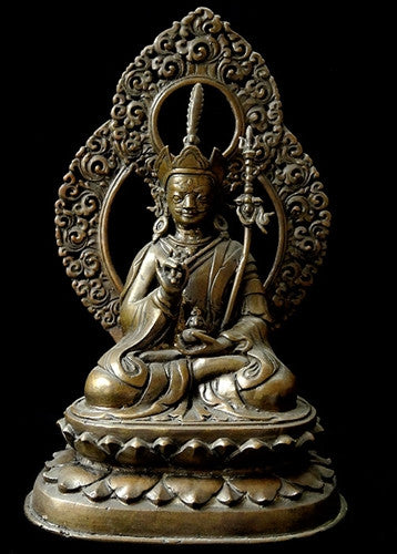 Large Antique Guru Padmasambhava Statue - 19th C