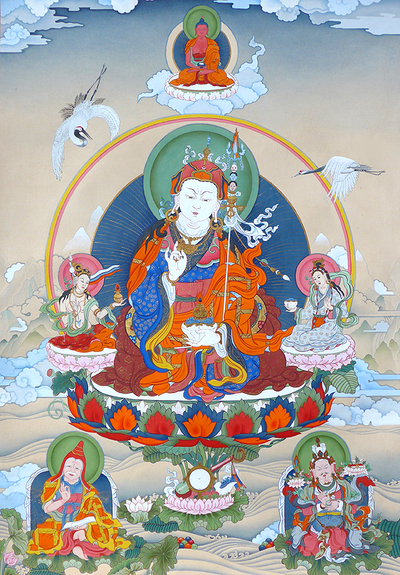 Guru Rinpoche Thangka - Fine Art Thangka Reproduction - by Flera Birmane