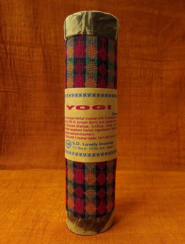 Retreat Yogi Incense - Juniper Blend - Dhaka Brocade Tube
