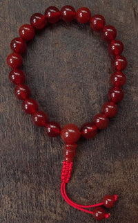 Carnelian Hand Mala with sliding knot - 21 Beads