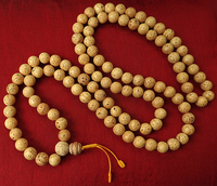 Round Indian Bodhiseed Mala - 10.5 mm