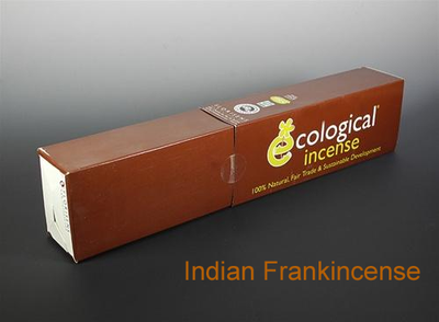 Indian Frankincense Ecological Fair Trade Ayurvedic Indian Incense - 100 Sticks