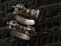Iron Bell & Dorje Ring Set - Hand Carved