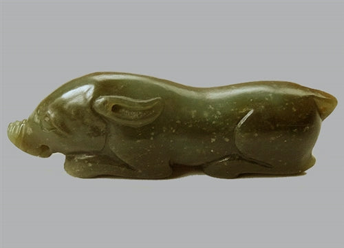 Antique Chinese Nephrite Jade Boar or Pig